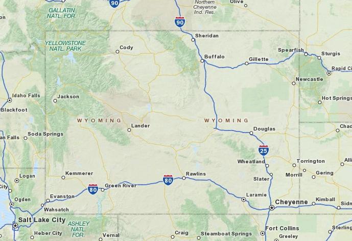 Cody Wyoming  Wyoming Map